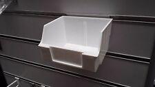 6 x parts hardware bin for slat wall panel display shelving