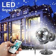 Outdoor Christmas Lights LED Snow Laser Projector Light Fairy Snowfall Lamp Xmas