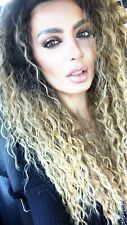 Afro Kinky Curly Ombre Brown Blonde Wigs Women  Synthetic Full Wig US