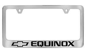 Chevrolet Equinox Chrome Metal license Plate Frame Holder