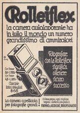 Z4061 Macchina fotografica Rolleiflex - Pubblicità d'epoca - 1931 advertising