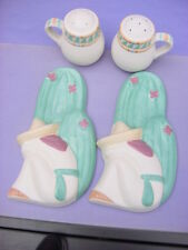 TIC AND POTTERY CRAFT SOUTHWEST SPOON RESTS & SALT AND PEPPER SHAKERS
