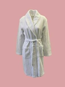 Lily June White Waffle Cotton Summer Dressing Gown Super Soft 8 - 22 (B5)