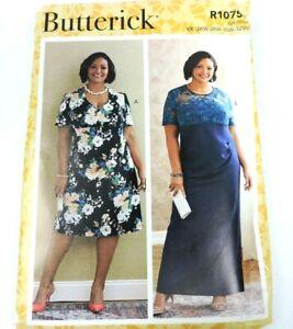 Butterick R10759 Sewing Pattern Women Size KK 26W-32W Dress Plus New Uncut