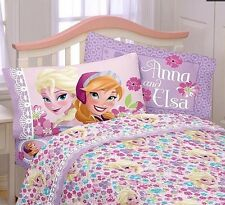 Disney Frozen Sister Love Bloom Full Size Bed Sheet Set - 4pcs