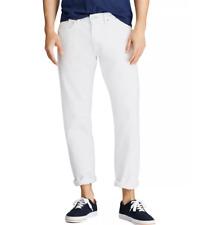 POLO RALPH LAUREN Men's Hampton Relaxed Straight Jeans White NWT