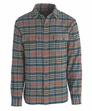 Woolrich Men's Oxbow Bend Plaid Flannel Shirt - Abyss - Medium