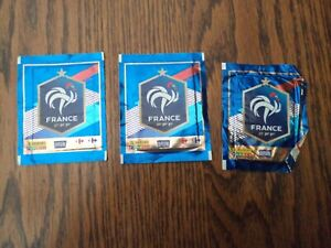 Panini Carrefour Fiers D/'être Bleus Lot 100 Pochettes Coupe Du Monde France 2018