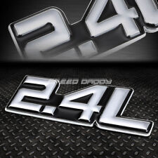 METAL BUMPER TRUNK GRILL EMBLEM DECAL STICKER LOGO BADGE CHROME BLACK 2.4 2.4L