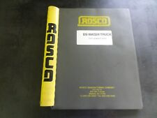 ROSCO DS Water Truck Operation Maintenance & Parts Manual   37605