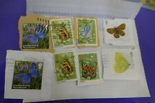 8 butterflies commemorative UK British postage stamps philately philatelic