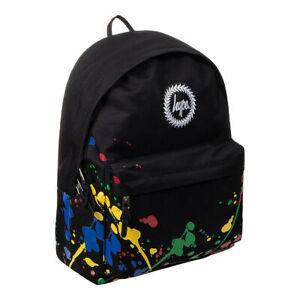 Hype Paint Splatter Black Backpack - Unisex Back To School Bag/Rucksack 18L