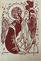MARIAN GLOMB - California Artist - Angel - Captivating Print - Hand Signed