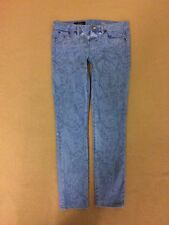 J CREW TOOTHPICK Blue JEAN IN GARMENT-PRINTED FLORAL 46638 size 26 ANKLE $135 A6
