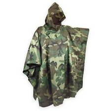 Us poncho woodland ripstop robuste
