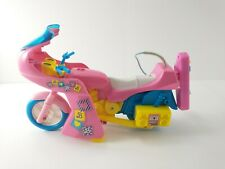 Vintage Totally 80's BARBIE Remote Control RC Motorcycle Toy TESTED / CLEAN Read