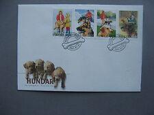 SWEDEN, cover FDC 2001, dogs ao Golden retriever labrador dachshund, helpdog