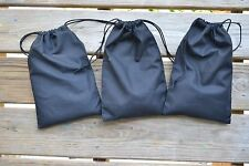 5 x 7 Inches Double Drawstring Muslin Bag. Black Color. High Quality Bags. - 100