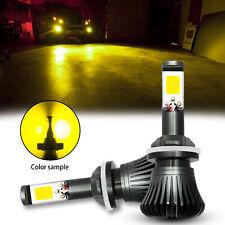 2Pcs 880 881 Yellow COB LED Fog Light Dual-Function Bulbs Lamps Conversion Kit