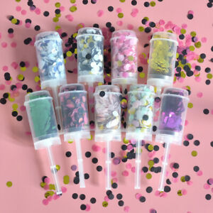 Push-Pop Confetti Party Favors Round Flower Paper Festival Wedding Supplies DIY