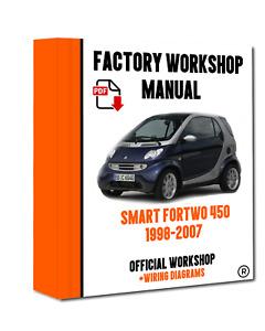 OFFICIAL WORKSHOP Manual Service Repair Smart Fortwo 450 1998 - 2007