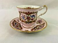 Paragon Pink Fine Bone China Rose Floral Sheraton Antique Series Tea Cup Saucer