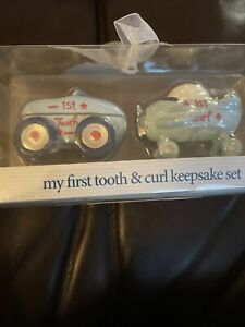 Little Racer First Tooth & Curl Baby Keepsake Set Baby Essentials Airplane & Car