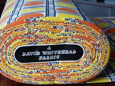 VINTAGE 1950s 1960s DAVID WHITEHEAD CURTAIN FABRIC Sold by the metre