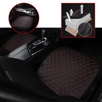 Universal Car Auto Seat Cover Front Cushion Chair Accessories Black PU+Red Line