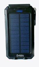 Errbbic Power Banks 20000mAhSolar Charger Waterproof With Compass and Flashlight