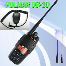 VHF/UHF POLMAR db10 + Altoparlante Microfono 136-174 & 400-480 MHz 10 Watt di alimentazione portatile