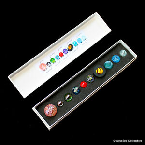 Collectors Boxed Miniature Solar System Orrery Globe Planet Marbles Set- 14-22mm