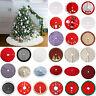 90/120cm Christmas Tree Skirt Non-woven/Plush Santa Snow Aprons Floor Cover Xmas