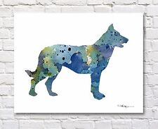 BEAUCERON Contemporary Watercolor Abstract ART Print by Artist DJR