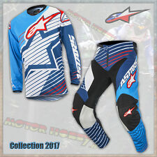 COMPLETO CROSS ENDURO ALPINESTARS RACER BRAAP 2017 CYAN WHITE DARK BLUE S - 30