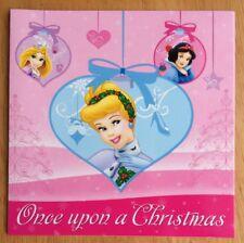 "Disney Princess Christmas Card - 5.5x5.5"" - Cinderella, Snow White, Rapunzel"