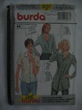 BURDA 3087 LADIES BLOUSES SEWING PATTERN SZ. 8 - 10 - 12