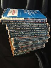 Pictorial Encyclopedia of American History Set 18 vol HC w/ Self Test Quiz Book!