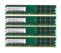 4pcs For Micron 4GB 2RX4 PC2-6400U DIMM Memory RAM DDR2 800Mhz Only For AMD @ST