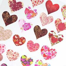 Heart Stickers Washi Planner Labels Red Valentines