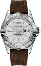 A49350L2/G699-108W | BRAND NEW BREITLING GALACTIC 41 MENS WATCH W/ BROWN STRAP