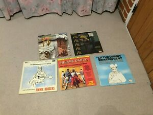 Collection 6 Country vinyl LPs Jimmie Rodgers Little Jimmy Dickens Willis Bros