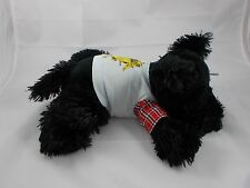 "Manhattan Toys Black Terrier Plush Dog Prince of the Kingdom 12"" Long"
