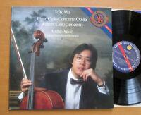 IM 39541 Yo-Yo Ma Cello Elgar Walton Cello Concertos Andre Previn EXCELLENT CBS