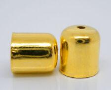 10 Stück Metall Endkappen, 7x8mm, Goldfarben Schmuck Basteln Kappen Gold Deko