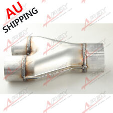 "Universal Custom Exhaust Y-Pipe 2.25"" Dual 2.5"" Single Aluminized Steel  AU"