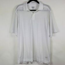 Callaway Mens Shirt Short Sleeve White Golf Polo Size Medium