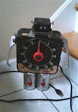 Repurposed Metal Sculpture Alien Robot Android Art Sci Fi Steampunk Timer