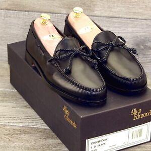 * NIB * $325 Allen Edmonds COLEBROOK Loafer 9 D Black * new Trees Bags