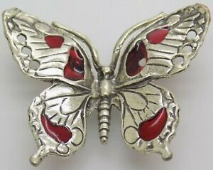 Vintage Solid Silver Italian Made LIFE SIZE Butterfly Figurine Hallmarked